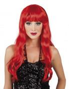 Parrucca lunga rossa da donna