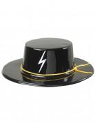 Cappello da giustiziere per adulto nero lucido