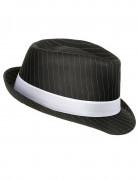 Cappello da gangster nero a righe per adulto