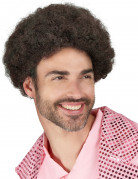 Parrucca marrone disco da uomo