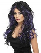 Parrucca viola e nera da donna