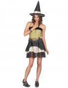 Costume con cappello da strega donna