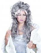 Parrucca donna grigia ondulata lunga