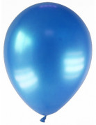 12 palloncini di colore blu scuro metallizzato