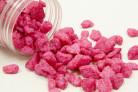 Confezione da 400 grammi di sassi decorativi di colore fucsia