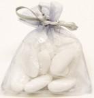 10 sacchetti di organza grigi