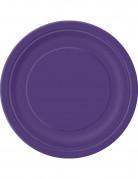 16 piatti in cartone viola 23 cm