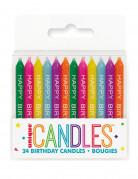 24 candele multicolore