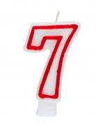 Candelina bianca e rossa numero 7