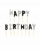 Candeline Happy Birthday grige