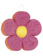 Pignatta a forma di fiore rosa ed arancione