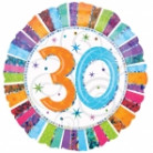 Pallone in alluminio per un raggiante compleanno dei 30 anni