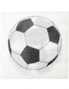 20 tovaglioli di carta stampata con pallone da calcio 33 x 33cm