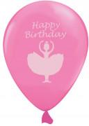 6 palloncini rosa con ballerina