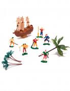 Statuine pirati in plastica per torte