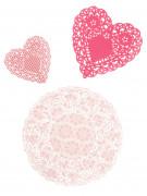 30 Centrini di carta rosa Pinky Party