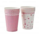 8 Bicchieri di carta rosa Pink Party