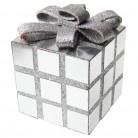 Pacchetto regalo decorativo argentato