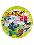 8 piatti di carta Mickey™ goal