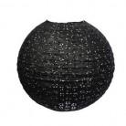 Lanterna giapponese dentellata nera 35 cm