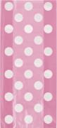 20 buste regalo rosa a pois bianchi