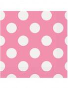 16 tovagliolini in carta rosa a pois bianchi 33 x 33 cm