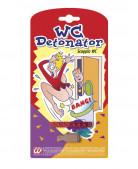 Mini detonatore WC per scherzi di Carnevale