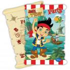 6 cartoncini d'invito originali Jake e l'Isola dei Pirati™