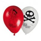 8 Palloncini bianchi e rossi Jake e i pirati™