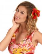 1 fermaglio con fiore rosso stile Hawaii