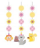 3 decorazioni da appendere Animali del bosco Bambina