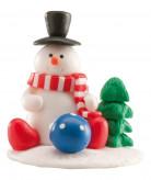 Omino di neve per decorazione dolci di Natale