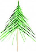 Stecchini decorativi in stile albero di Natale
