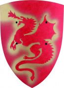 Scudo in legno decorato da un dragone rosso