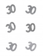 6 numeri in cartone glitterato per compleanno 30 anni