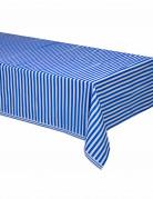 Tovaglia a strisce blu e bianco