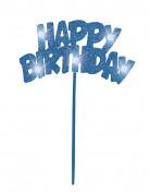 Decorazione blu luminosa per torta di compleanno