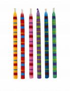 12 candeline a righe multicolore per compleanno 9 cm