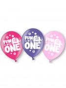 6 palloncini da bambina per compleanno di 1 anno