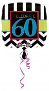 Palloncino in alluminio 60 anni Celebrate your birthday