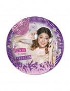 8 piatti raffiguranti Violetta™ di diametro 20 cm