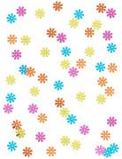 Coriandoli a forma di fiori colorati