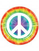 Lotto 8 piatti di carta a tema Pace da 23 cm