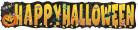 Striscione in cartoncino zucca Happy Halloween