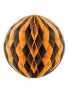 Sfera di carta per Halloween nera e arancio