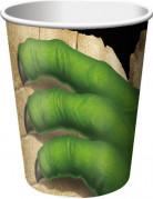 Set di 8 bicchieri in carta raffiguranti dinosauri