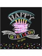 16 Tovagliolini di carta Happy Birthday to you