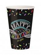 Confezione 8 bicchieri di carta Happy Birthday