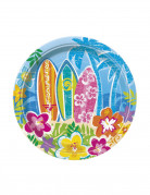 8 piatti di carta Hawaii
