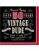 16 Tovaglioli di carta Compleanno 50 anni stile vintage